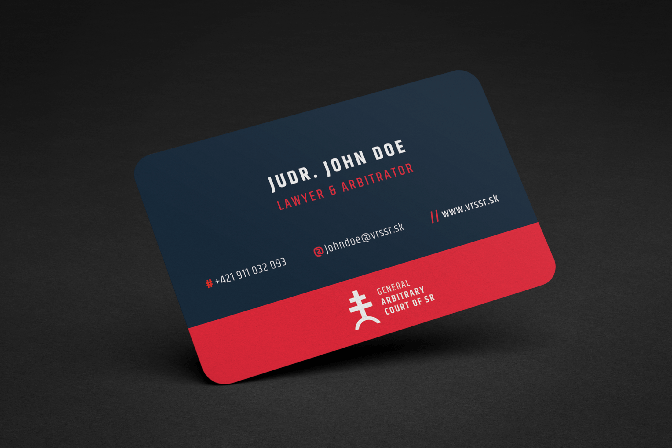 Court, Law Firm business card design and corporate identity design