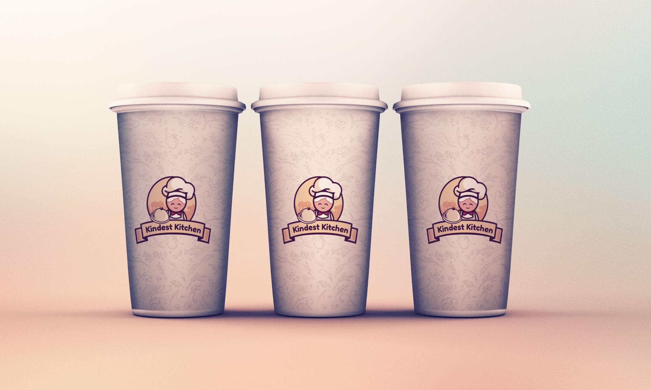 Restaurant logo design by europe graphics. Food company logo design. Coffe cups